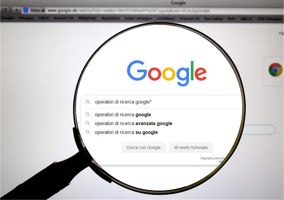 7 operatori ricerca avanzata google